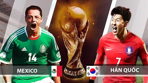 Soi kèo Hàn Quốc vs Mexico 22h00 ngày 23/6/2018, bảng F: Một Mexico quá tinh quá