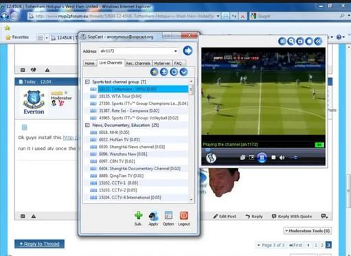 Cách sử dụng Sopcast đơn giản, dễ thực hiện cho người xem bóng đá